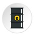 black oil barrel icon circle vector image vector image