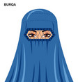 burqa woman in burqa isolated icon avatar vector image vector image