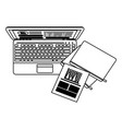 business and office elements black and white vector image vector image