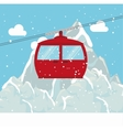 cable way snow mountain design vector image