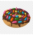 Cartoon doughnut sign vector image vector image