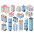 city buildings set vector image vector image