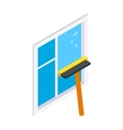 Cleaning mop window isometric 3d icon vector image