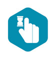 click icon simple style vector image vector image