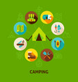 concept camping tent vector image vector image