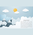 creative of mountain landscape with sun and vector image