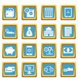 credit icons azure vector image