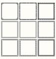 decorative geometric frames vector image vector image
