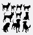 Dog pet animal silhouette 13 vector image vector image