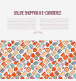 e-commerce shopping concept vector image