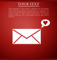 envelope with valentine heart icon message love vector image vector image