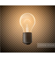 figure a luminous light bulb on a transparent vector image vector image