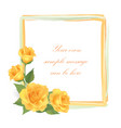 floral greeting card with flower rose frame vector image vector image