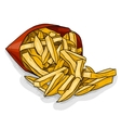 french fry color picture vector image vector image