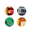 Genre cinema set icons vector image vector image