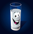 glass milk vector image