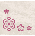 grungy floral border vector image vector image