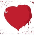 Hand drawn red heart vector image vector image