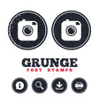 hipster photo camera sign icon retro camera vector image