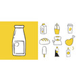 icon set of household items food and drinks vector image vector image