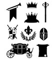 king royal golden attributes of medieval power vector image