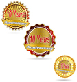 Label decoration ceremony anniversary sign symbol vector image vector image