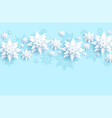 light blue snowflake vector image vector image