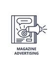 magazine advertising line icon concept magazine vector image vector image