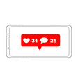 mobile phone notification vector image vector image