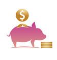 moneybox pig vector image