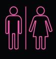 neon bulb man and woman symbol vector image vector image