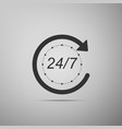 open 24 hours a day and 7 days a week icon vector image vector image