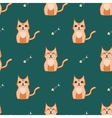 Orange and dark green cat backround vector image