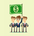 people hold dollar flag vector image vector image