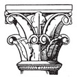romanesque capital an architectural style of vector image vector image