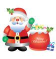 santa with presents vector image vector image