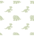 seamless background dinosaurs vector image vector image
