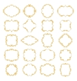 Set collection of ornamental vintage frames vector image vector image