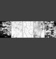 set grunge background black and white vector image