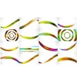 Set of 16 blur wave abstract backgrounds vector image vector image