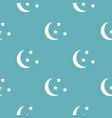 sleep pattern seamless blue vector image vector image