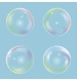 Soap bubble set vector image vector image