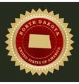 Star label North Dakota vector image vector image