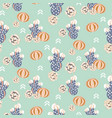 succulent retro colors seamless pattern vector image vector image