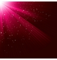Texture with shining stars and rays EPS 10 vector image