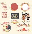 thanksgiving autumn leaves decoration vector image