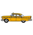 the old american yellow taxi vector image vector image