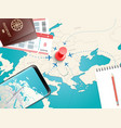 travel accessories vacation concept vector image