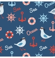 vintage pattern with seagulls anchors and vector image vector image