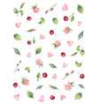 watercolor banner from green leaves vector image vector image